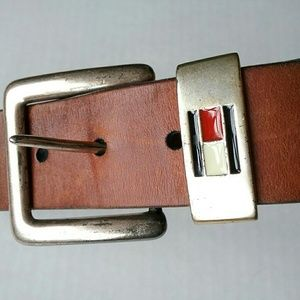 Tommy Hilfiger Accessories - Tommy Hilfiger Brown Leather Belt Size 30 Made in